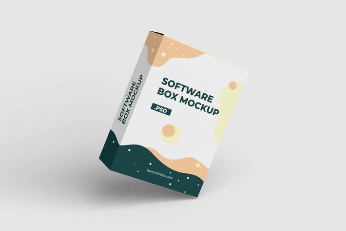 Thumbnail for Software-Box - Mockup-Vorlage