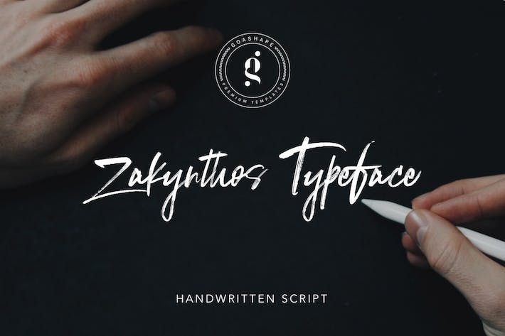 Cover Image For Zakynthos Handwritten Typeface