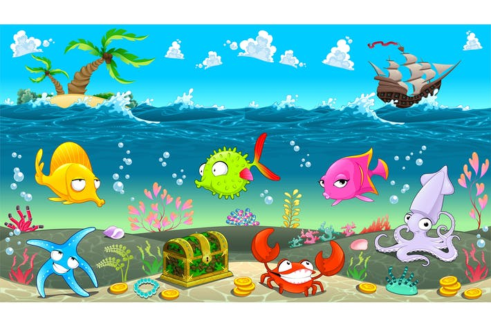 Cover Image For Funny Scene under the Sea