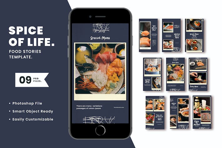 Thumbnail for Spice of life Instagram Stories Template