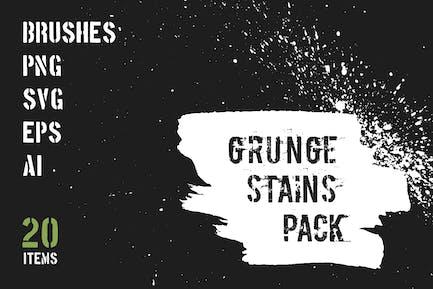 Grunge Flecken-Pack