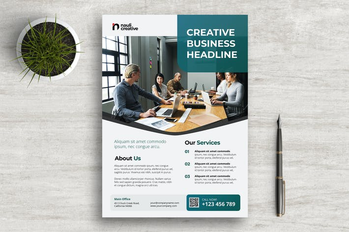 Thumbnail for Corporate Business Flyer PSD and Vector Vol.1