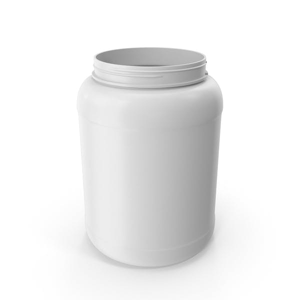 Пластиковая бутылка Широкий рот 1,8 галлон Белый без крышки