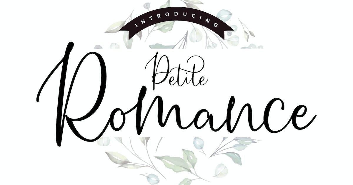 Download Petite Romance   Handcrafted Script Font by Vunira