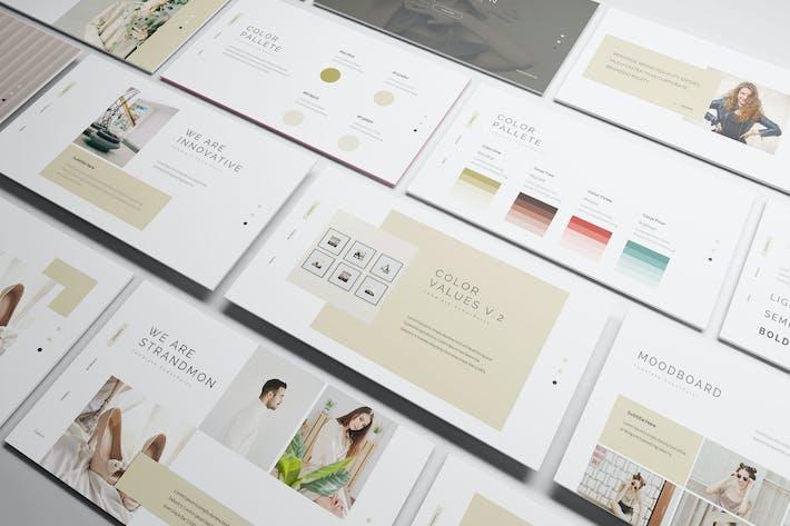 Thumbnail for Presentación en PowerPoint de Branding de Strandmon