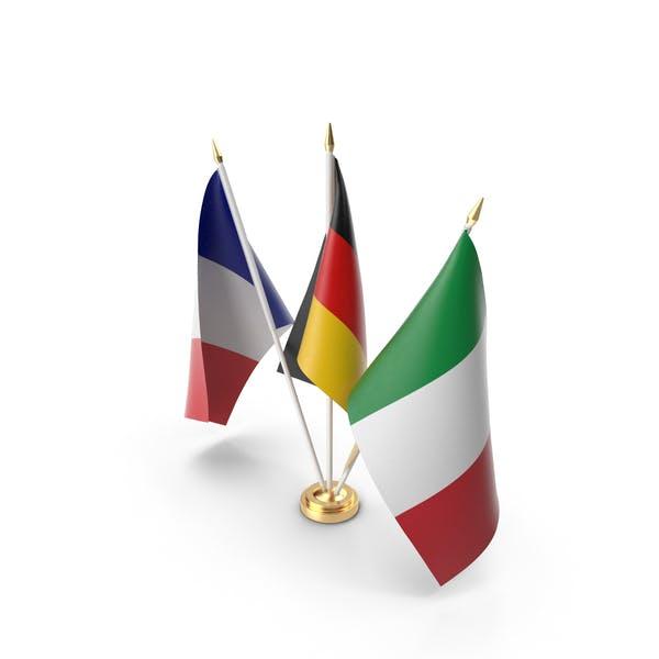 Tischflaggen Deutschland Frankreich Italien