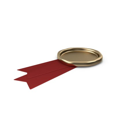 Red Ribbon with Wax Stamp