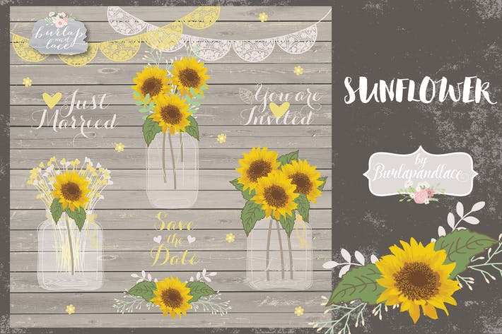 Thumbnail for Vector sunflowers