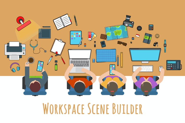 Thumbnail for Workspace Desk Scene Builder