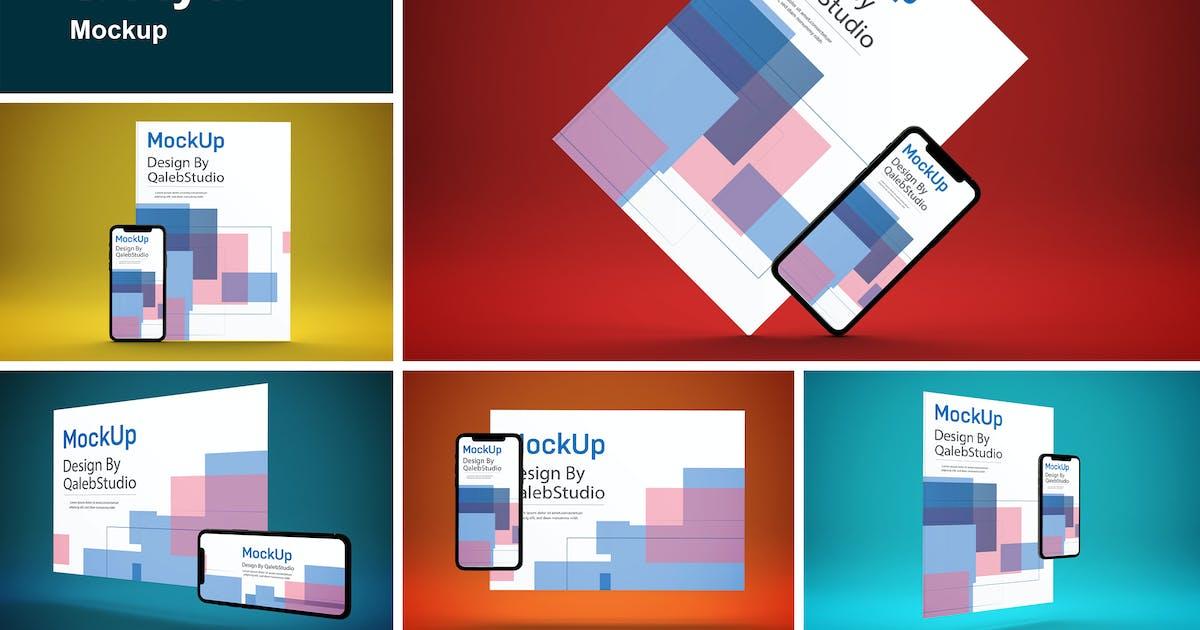 Download iPhone 11 & Flyer Mockup by QalebStudio