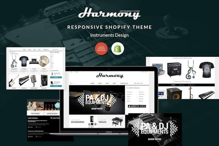 Thumbnail for Responsive Shopify Theme - Instruments Design