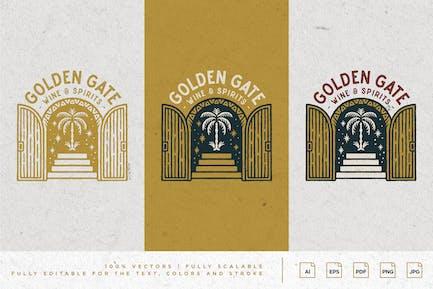 Artwork Design - Golden Gate - Wine Spirits