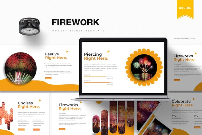 Thumbnail for Firework | Google Slides Template