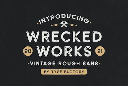 Wrecked Works – Vintage Rough Sans