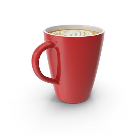 Latte Red Mug