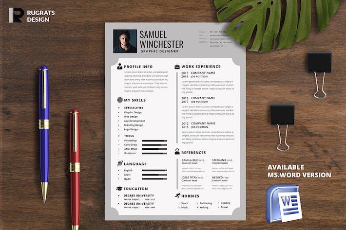 Thumbnail for Minimalist CV Resume R4