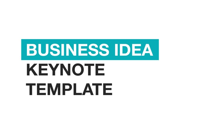 Thumbnail for Business Idea Keynote template