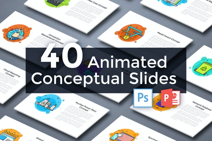 Thumbnail for 40 Animated Conceptual Slides for Powerpoint p.5
