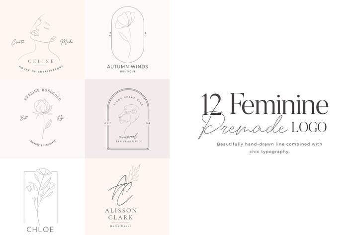 Thumbnail for Feminine Premade Logo