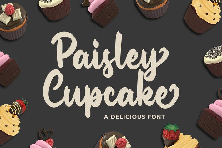 Thumbnail for Paisley Cupkace a Delicious Font