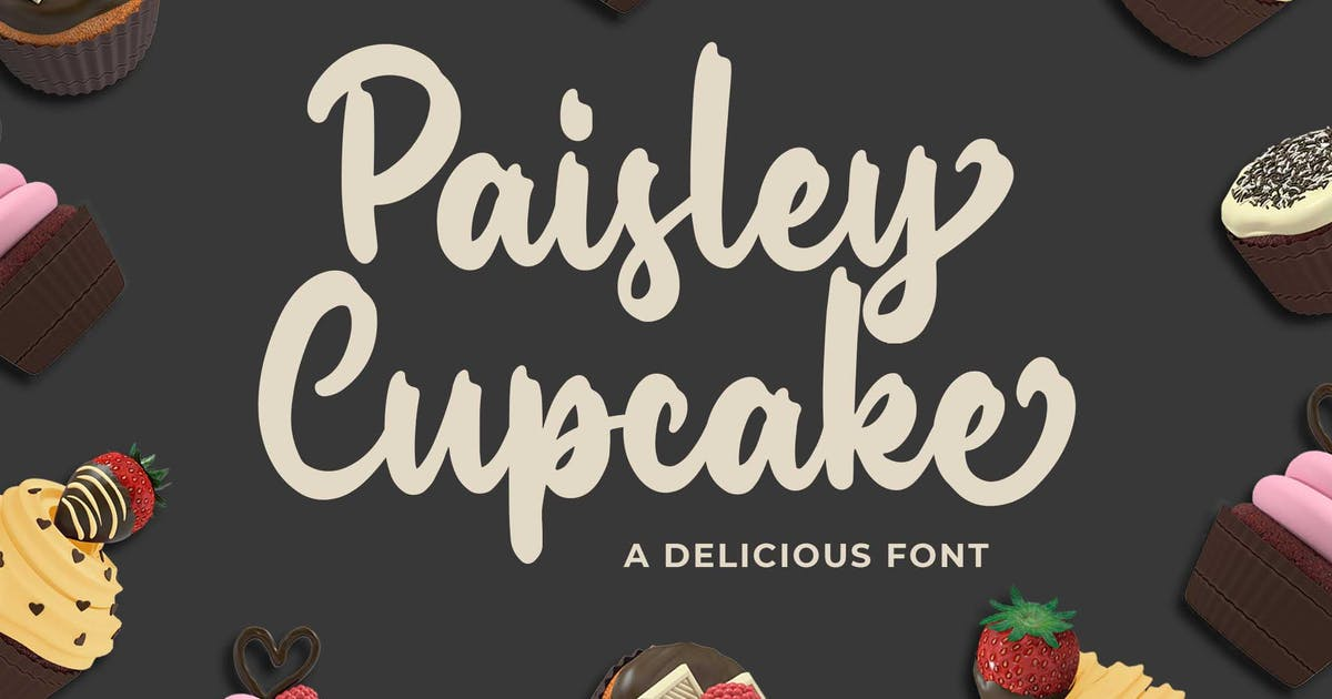 Download Paisley Cupkace a Delicious Font by Blankids