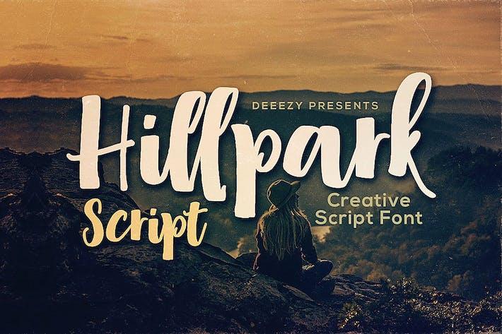 Thumbnail for Hillpark Script Font
