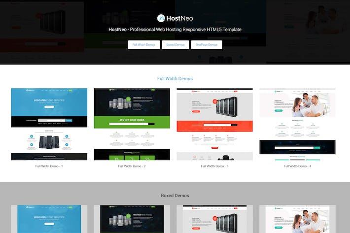 Thumbnail for HostNeo - Web Hosting Responsive HTML Template