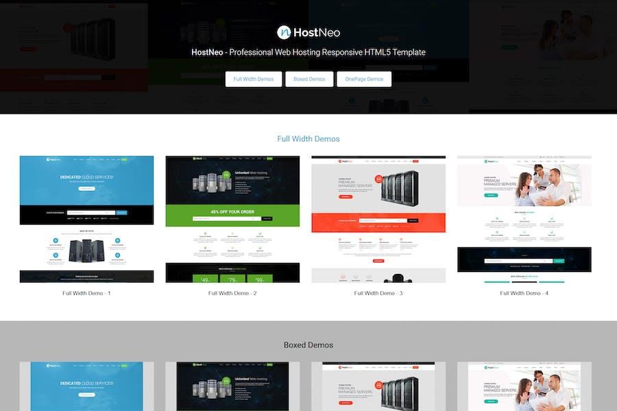 HostNeo - Веб Хостинг Адаптивный HTML Шаблон
