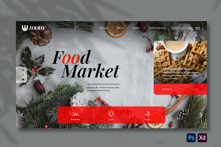 Cover Image For Food Market | Hero Header