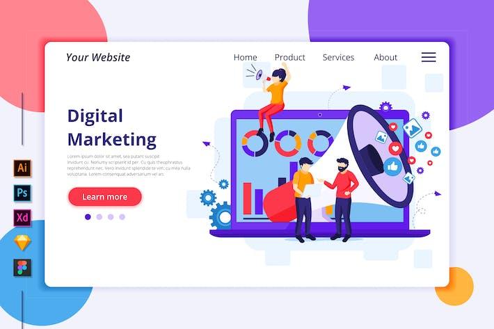 Thumbnail for Agnytemp - Digital Marketing Illustration v1