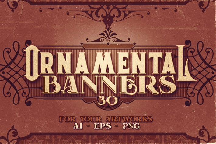Thumbnail for 30 Vintage Ornamental Banners