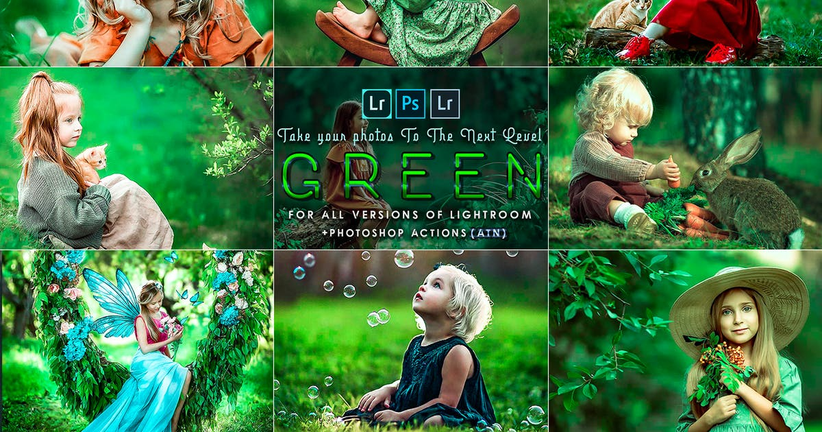 Download Green Tones ( presets and  Actions ) by 2lagus