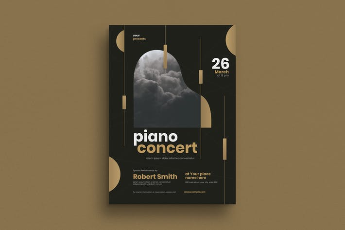 Thumbnail for Piano Concert Event Flyer
