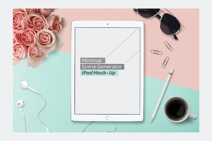 Thumbnail for White iPad Pro & Pencil Lifestyle Mock-Up