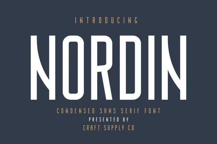 Thumbnail for Nordin - Condensed Sans Serif Font