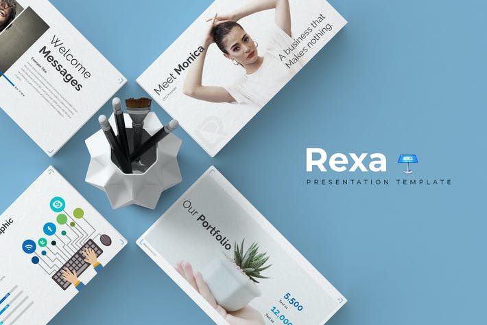 Thumbnail for Rexa - Keynote Template