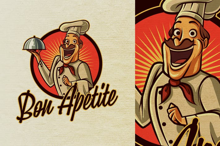 Thumbnail for Vintage Retro Old Cook or Chef Mascot Logo 6.0