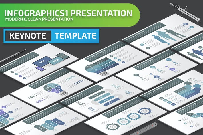 Thumbnail for Infographics1 Keynote Presentation Template