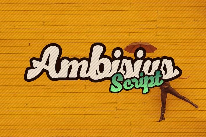 Thumbnail for Ambisius Script Font