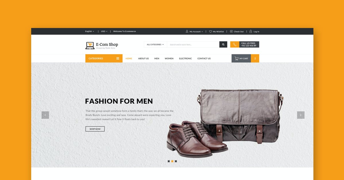Download Ecom - Responsive eCommerce HTML Template by WPmines