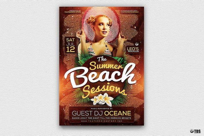 Thumbnail for Summer Beach Flyer Template V3