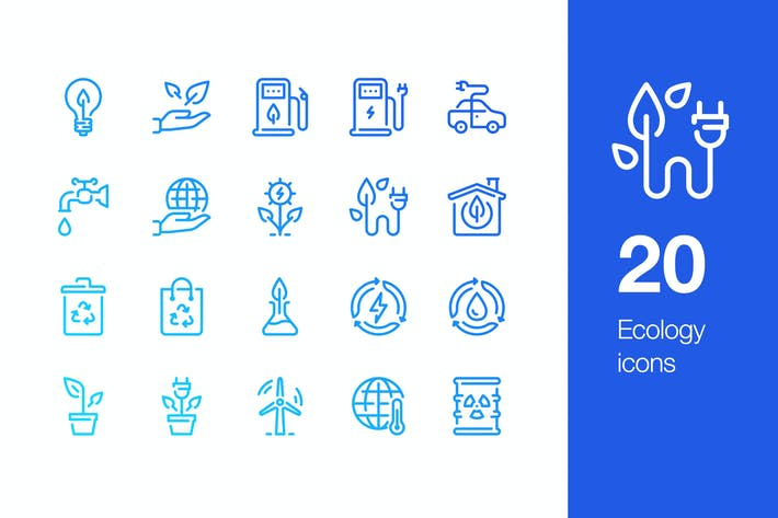 Thumbnail for 20 Ecology icons