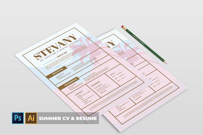Thumbnail for Summer | CV & Resume