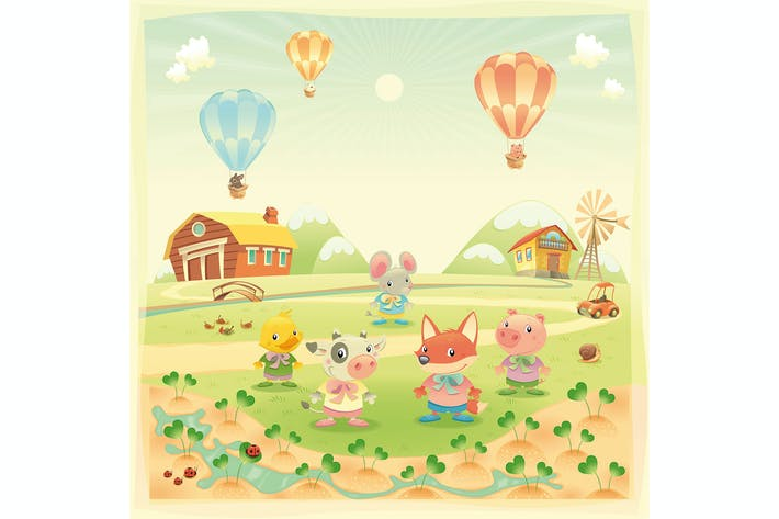 Thumbnail for Baby farm animals in the countryside