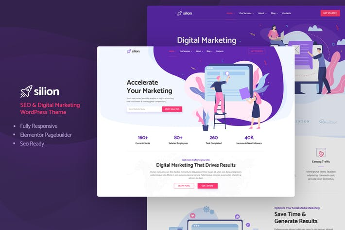 Thumbnail for Silion - Digital Marketing WordPress Theme