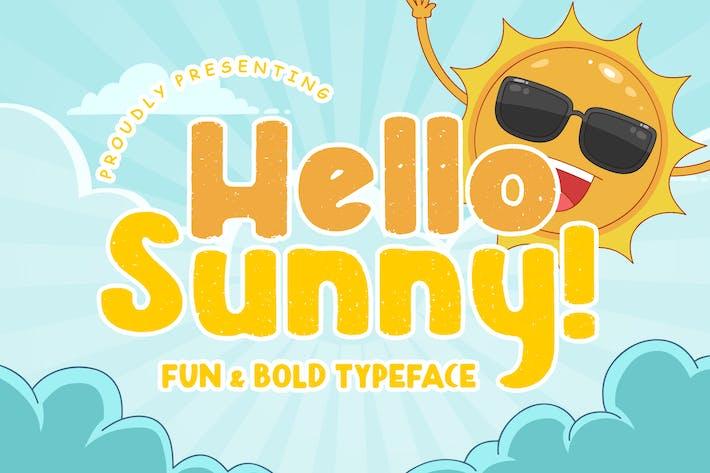 Thumbnail for Hello Sunny Fun & Bold Tipo de letra