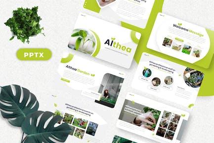 Althea - Gardening Powerpoint Templates