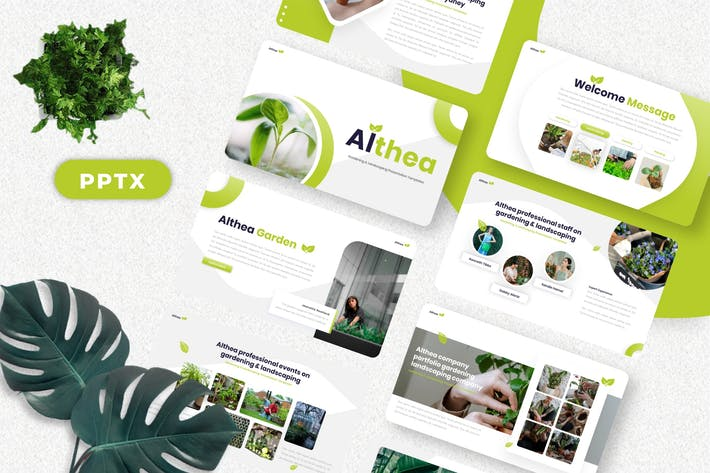 Thumbnail for Althea - Gardening Powerpoint Templates