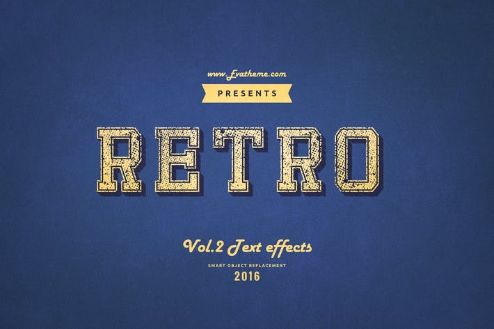 Thumbnail for Retro Style Text Effects Vol.2