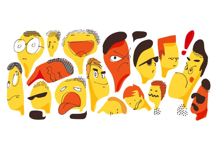 Thumbnail for Faces in many expression